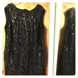 Studio One lace sheath sleeveless dress/LBD